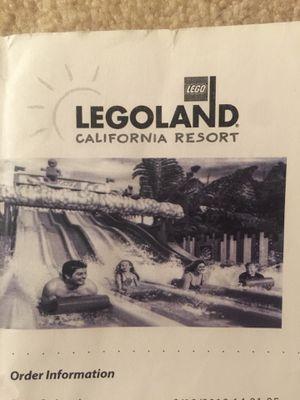 LEGOLAND California ticket for Sale in Chino Hills, CA