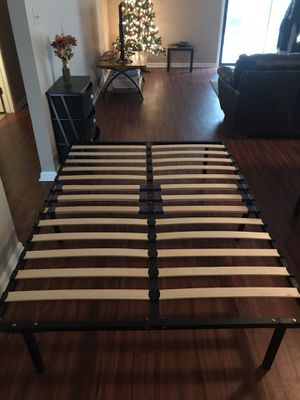 Full size bed frame with slats for Sale in Tallahassee, FL