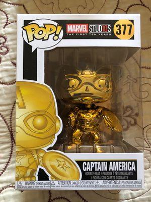 GOLD Captain America Marvel Funko Pop for Sale in El Monte, CA