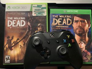 The walking dead season 1 & 3 plus x box one controller for Sale in Columbia, MO