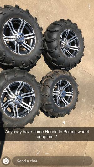 Brand new ss rims and brand new mud lights trade for Honda tires and wheels or 300 cash for Sale in Pineville, LA