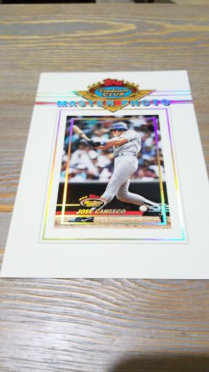 Baseball card- jose canseco master photo for Sale in West Stayton, OR