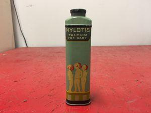 Vintage Nylotis Baby Talcum Tin for Sale in Mount Vernon, OH