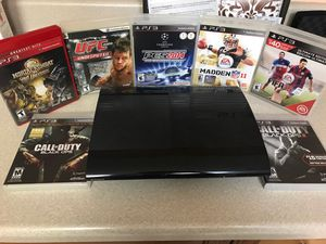 PS3 Console with 7 games for Sale in Delano, CA