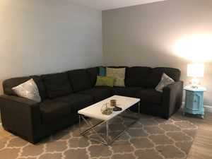 Dark grey couch- sectional for Sale in Phoenix, AZ