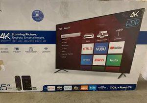 "Brand New TCL ROKKU TV 55"" inch. Open Box w/ warranty 4 R8 for Sale in Dallas, TX"