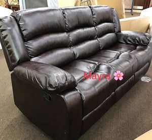🆓🚚💰 .:.SPECIAL] Dynamo Black 3-Piece Reclining Living Room Set. Sofa loveseat chair for Sale in Houston, TX