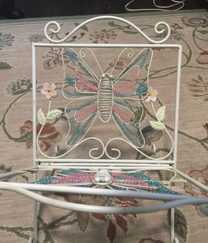 Metal Beaded Butterfly & Flowers Magazine Rack for Sale in Holly, MI