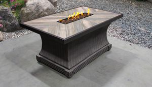 New 32 x 52 outdoor patio furniture fire pit heater place rectangle for Sale in Chula Vista, CA