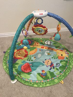 FP play mat $15, FP play mat with piano $15, jumper $20, Mamaroo $60 (missing one toy ball), FP automatic rocker/sleeper $30 for Sale in Joshua, TX