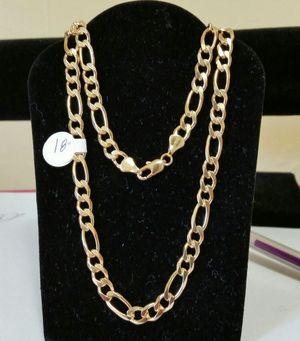 "MEN'S CHAIN 18"" BRAZILIAN GOLD LAYERED FINE JEWELRY for Sale in Roanoke, VA"
