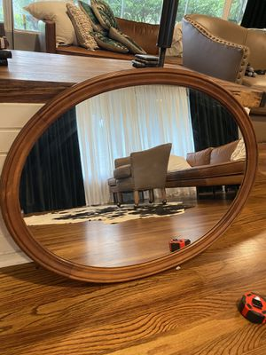 Vintage Oval Mirror with Wood Frame for Sale in Orlando, FL