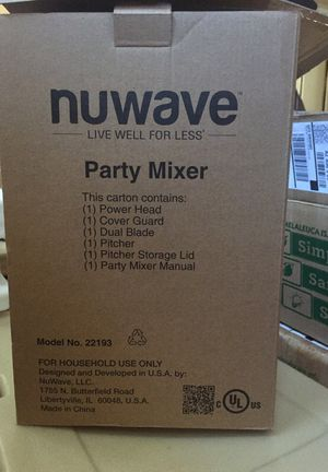 Nuwave Party Mixer for Sale in Wenatchee, WA