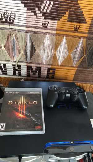 250gig ps3 remote/games for Sale in Durham, NC
