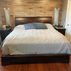 King Bedroom Set - Solid Mahogany Imported for Sale in Fairfax, VA