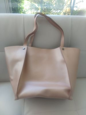 Neiman Marcus reversible pink/silver tote bag for Sale in Tallahassee, FL