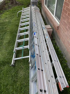 17' 20' 28,32'34' extension ladders . Prices in the description. for Sale in South Salt Lake, UT