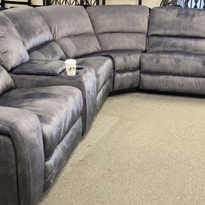 New Fabric Power Recliner Sectional Couch /$50 down for Sale in Culver City, CA