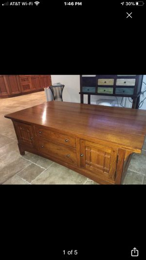 Cocktail Table and 2 end tables OAK for Sale in Tarpon Springs, FL