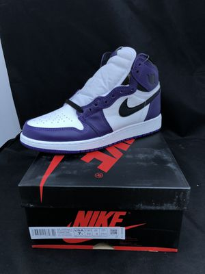 Air Jordan 1 Retro High OG Court Purple 2.0 GS - Size 7Y for Sale in Los Angeles, CA