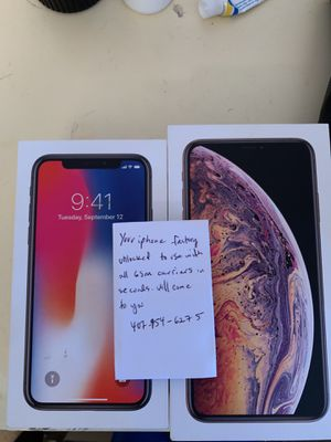 iPhone Xs 8 7 6 6s 5 5s se unlock for Sale in Kissimmee, FL