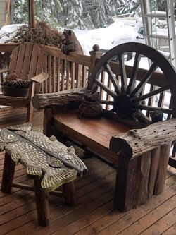 Hand Carved Wood Coffee Table Buy Together Or Separate for Sale in Lakebay,  WA