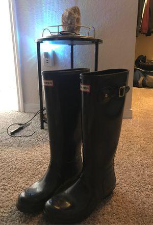 Hunter Rain Boots tall,black,glossy -originally $150 for Sale in Tampa, FL