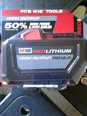 NEW MILWAUKEE M18 HD 12.0 BATTERY for Sale in Casa Grande, AZ