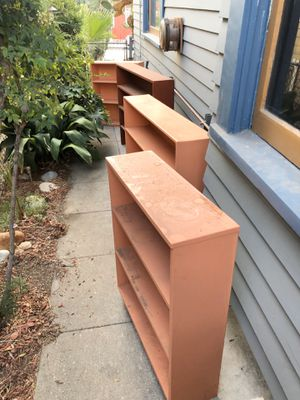 Solid wood bookshelves three different sizes for all 4 for Sale in Los Angeles, CA