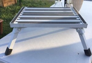 Aluminum platform step. Give you that extra security. Like new. When not used, always kept in box. No longer have facebook. No messenger. for Sale in Sevierville, TN