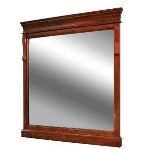 Home Decorators Collection Naples 30 in. x 32 in. Wall Mirror in Warm Cinnamon for Sale in Miami, FL