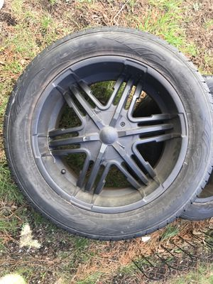 "Black Forte 20"" truck rims for Sale in Boston, MA"
