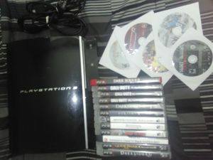 Ps3 system - black includes 16 games for Sale in Columbus, OH