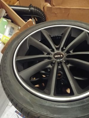 Rims wheels tires 4 NS Black Rims wrap in Nexen N7000 215 /45ZR17 for Sale in Woodstock, MD