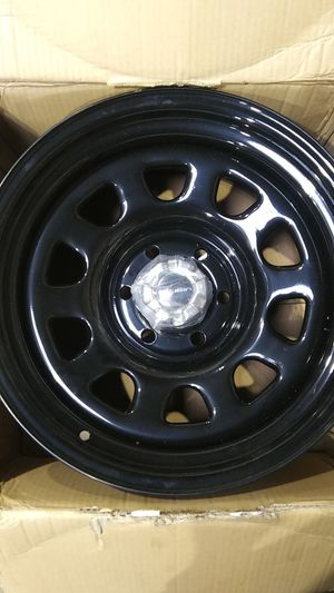 4 Vision D-Wheels 17×9 inch/All black steel with center caps/6 lug holes for Sale in Landover, MD
