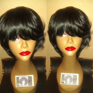 100% human short wrap feathered hair wig for Sale in Pompano Beach, FL