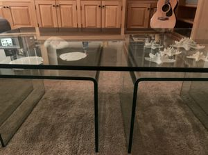 Bent Glass Coffee Table and 2 Nesting Tables. for Sale in Redondo Beach, CA