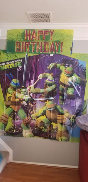 Ninja turtle birthday wall decorations for Sale in Silver Spring, MD