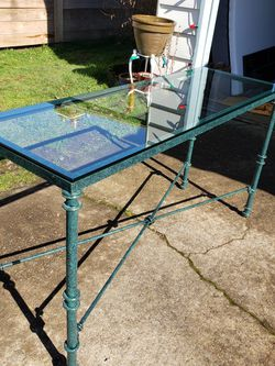 Glass & Iron Metal Entry/Sofa Table-Excellent Condition! for Sale in Portland,  OR
