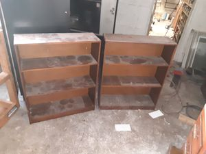 Real wood book shelves for Sale in Halethorpe, MD