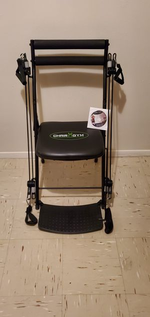 New chair gym with DVD for men and women and folds flat when not in use for Sale in The Bronx, NY