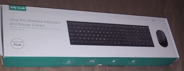 Ultra Thin Wireless Keyboard with Mouse