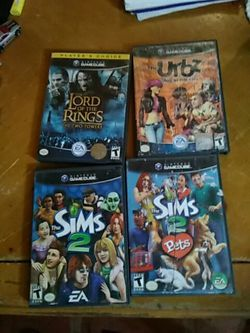 4 Gamecube games sims 2, luigi's mansion, URBZ, Lord of the rings for Sale in Miami,  FL
