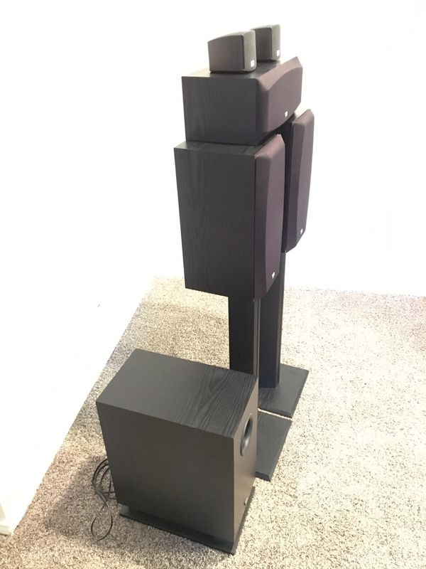 Onkyo Home Theater 5.1 Speakers w/stands