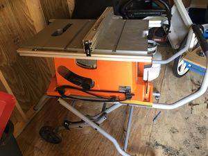 Ryobi table saw with fold up cart for Sale in Mansfield, OH