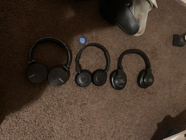 Jbl and Sony Bluetooth headphones
