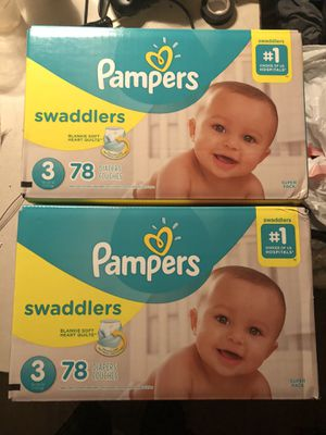 Pampers swaddlers size 3 for Sale in Fresno, CA
