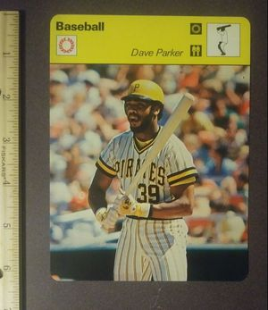 1979 Dave Parker Sportscaster Big Stick Man Pittsburgh Pirates Sports Sport Photo Large Over-sized Baseball Card HTF Collectible Vintage Italy for Sale in Salem, OH