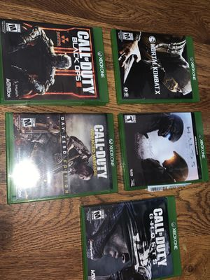 Xbox One games call of duty halo and mortal Lombardi for Sale in Miami, FL