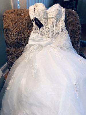 Wedding Dress for Sale $99 (size 10 BRAND NEW) for Sale in Chicago, IL